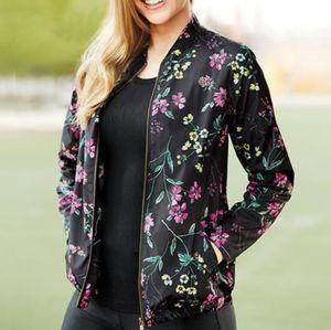 Signature Weekend   Floral Windbreaker Jacket